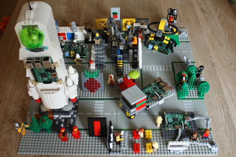 Die Raspberry Pi Lego Welt aus der Helikopter Perspektive
