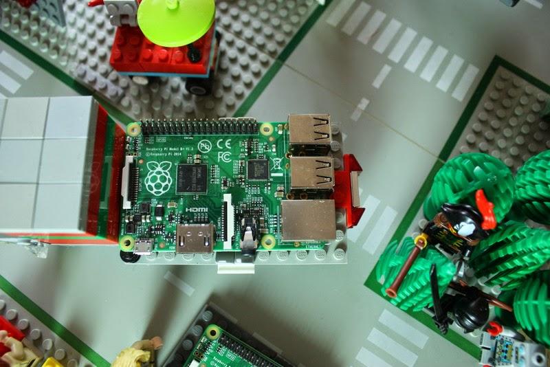 Der Raspberry Pi - in diesem Fall ein Model B+ - wird abtransportiert