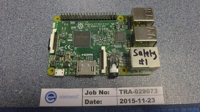Der Raspberry Pi 3 mit WLAN an Board - Bild: FCC-Testreport 2ABCB-RPI32