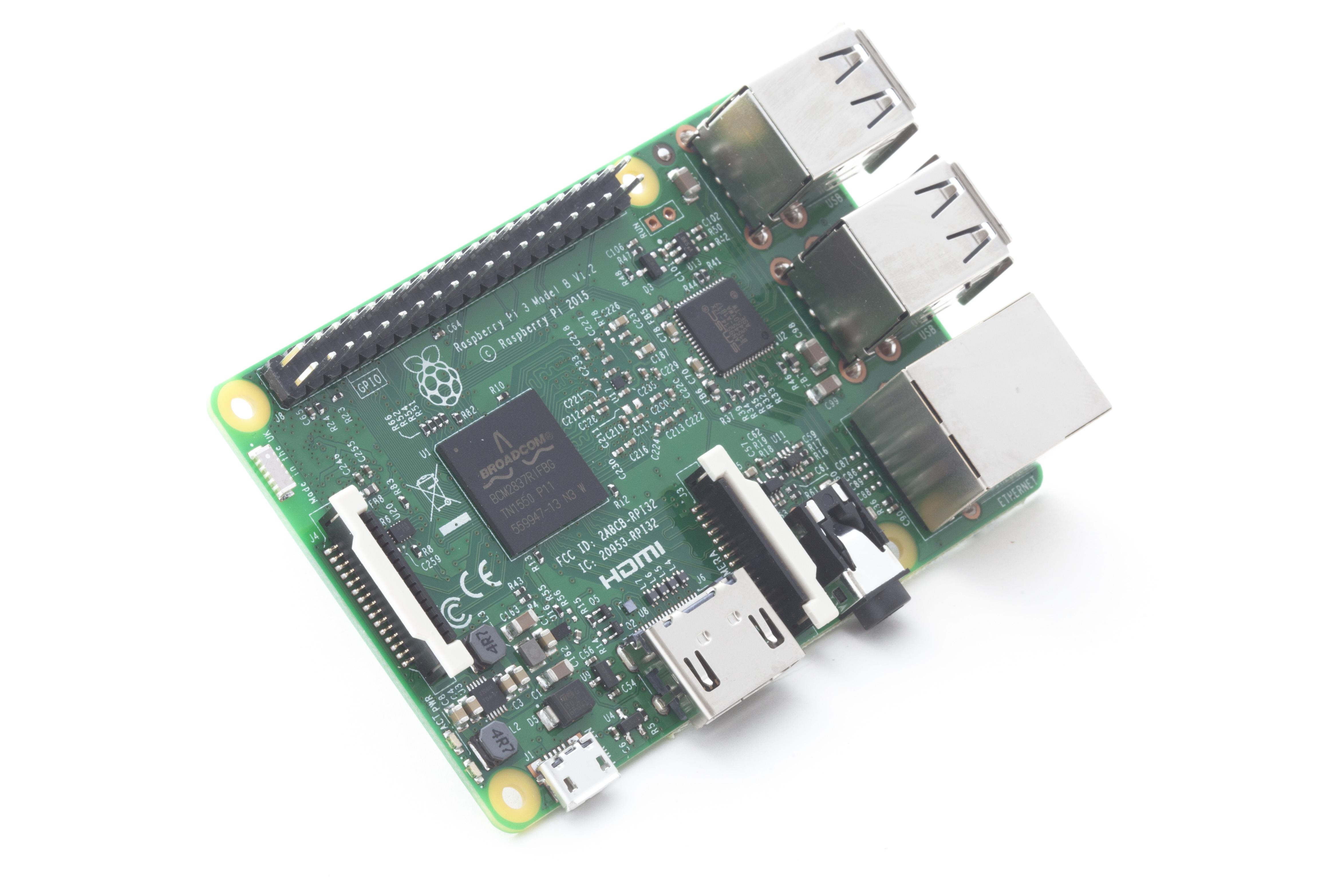 Der Raspberry Pi 3 Model B - Quelle: raspberrypi.org